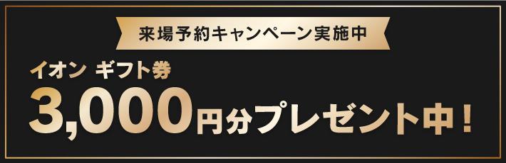 イオン ギフト券 3,000円分プレゼント中!